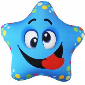 "Подушка-игрушка антистресс ""Звезда"" голубая"