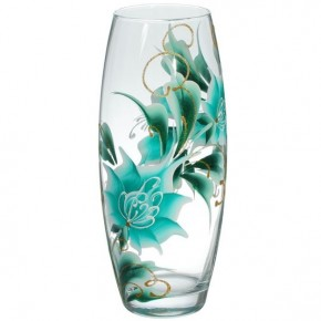 """Стеклянная ваза """"Бриз"""" 26 см"""