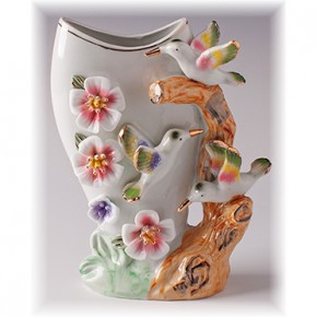 "Фарфоровая ваза ""Колибри"" 21 см"