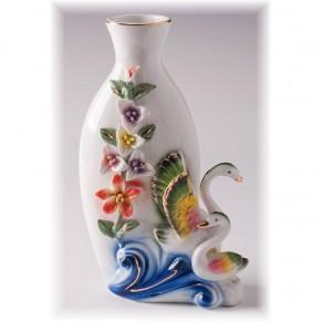 """Фарфоровая ваза """"Лебеди"""" 21 см"""