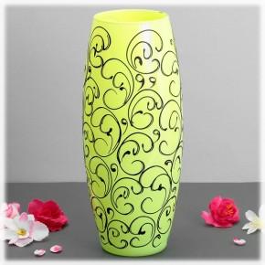 """Стеклянная ваза """"Тропики"""" 26 см"""