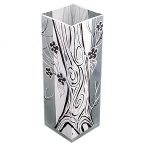 """Стеклянная ваза """"Зэмба квадро"""" 30 см"""