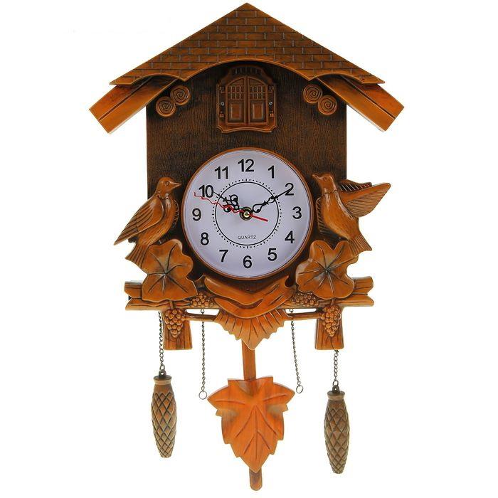 """Часы настенные с маятником и кукушкой """"Лесные трели"""" от 3 800 руб"""