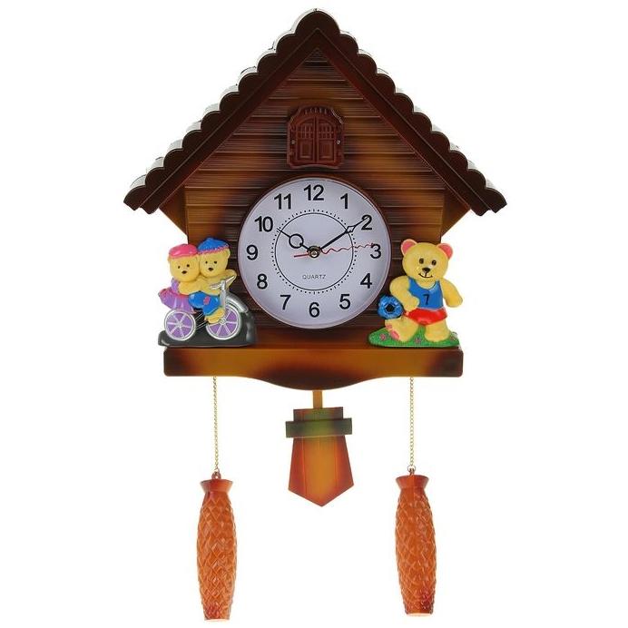 """Детские часы """"Спортсмены"""" настенные с маятником и кукушкой от 2 450 руб"""