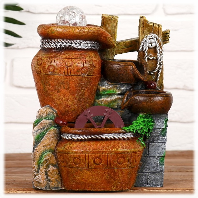 """Фонтан настольный с подсветкой """"Античные вазы"""" от 2 550 руб"""