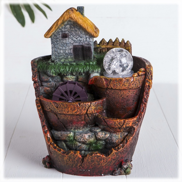 """Фонтан """"Дом у реки"""", настольный декоративный с подсветкой от 2 650 руб"""