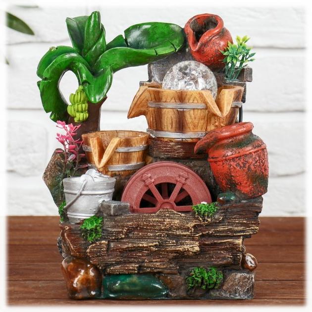 """""""Тропический рай"""" фонтан настольный декоративный с подсветкой от 2 570 руб"""